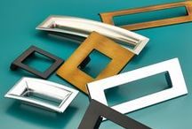 "Finestrino Cabinet Hardware / Great design is in the space between. From the Italian word for ""little window"", Finestrino, a collection by Schaub & Company, finds beauty in the art of negative space. Each piece features simple lines that surround an open center, creating a stunning compositional balance. Finestrino is available in a wide range of finishes, from burnished bronze to flat black, polished chrome, and more. Choose any pairing of finish and hardware to create your own window of art."