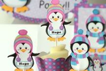 Penguin Christmas Themed Party