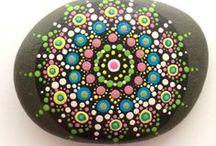 Mandalastones & Dot-Stones / Dotart, Mandala-Stones, Dot-Stones,
