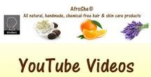 YouTube videos / Watch on YouTube to see how AfroShe® products works. www.youtube.com/afroshe