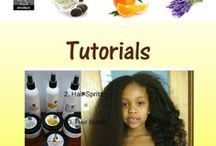 Tutorials / Infographics tutorials on AfroShe® hair & skin care products.