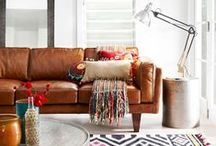 Modern Bohemian / A mix of modern and bohemian styes for a unique look.