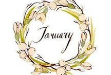 January brings the snow, makes our feet and fingers glow. / January