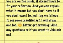 Who are you?. / These are drawings of who you are on the inside. :3 For anyone that wants to join just ask.!