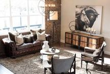 Rustic Industrial Living / A raw look that works in both the country and the city, this aesthetic is ideal for any home with an edge.