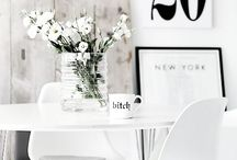 Black and White Interiors / Decorating with black and white