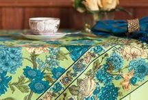 Fall 2013 Kitchen Linens / Bring color to your home with flowers and prints in every color.