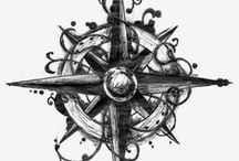 Tattoo Compass / #Tattoo #Tattoos #North #East #West #South #Coordenates #Compass GO TO THE EAST!!! / by People + Tattoos = Hot by Ra Alenko