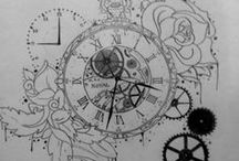 Tattoo Clock / #tattoo #tattoos #clock #hour The control of the time, a thing everypeople wants. / by People + Tattoos = Hot by Ra Alenko
