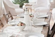 Tableware and table settings / Plates, glasses, mugs and cutlery