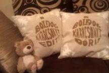 how to paint pillow / Xmas pillow decoration