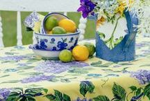 Spring 2015 Kitchen Linens / 2015 Spring/Summer linens for your kitchen from April Cornell, available at AprilCornell.com and AprilCornll.ca.