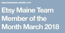Member of the Month / Each month the Etsy Maine Team selects a member to honor. Criteria includes fab artistry & or an assortment offered that exemplifies team spirit.