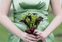 Green wedding / Monochromatické téma: zelená.  Green weddings