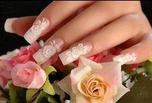 Wedding mani & pedi / Svatební nehty / #wedding manicure, #wedding pedi,