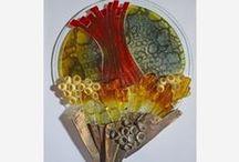 Landschappen Ruth Houkes / glasapplicaties