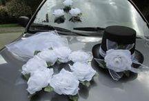 Svatební ozdoby na auto / svatební ozdoby na auto, svatební dekorace na auta