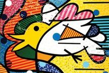 Romero Britto / Internationally renowned pop artist Romero Britto uses vibrant colors and bold patterns as a visual language of hope and happiness, reflecting his optimistic faith in the world around him.