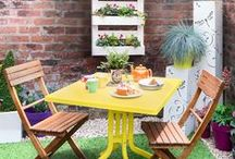 Love a bistro table / Small plot? Add a bistro table set and sit back, relax and enjoy that glass of wine.