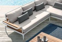 Material: contemporary teak / Teak is excellent, high quality material, ideal for outdoor furniture. It's particulary resistant to changes in temperature, water, humidity and saltwater. Here some inspiration for outdoor furniture, contemporary teak mood.