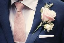 The Groom Wedding Inspiration / Looks and colours for the groom. thegiftaisle.com.au