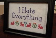 Cross Stitch & Embroidery / Cross stitching has changed a lot since I used to stitch nothing but rainbows when I was a kid!