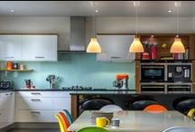 New looks for kitchens / Kitchen design should not be about fashion or trend but it's amazing what you can do with colours, paint, accessories and tiles to put your stamp on your own kitchen. Or buy a new one based on some of these!