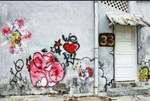 Street Art / Discover Street Art of Pondicherry: Graffiti or Urban performance.