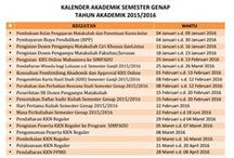 KALENDER AKADEMIK UNIVERSITAS MUSLIM INDONESIA