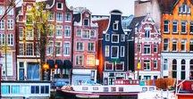 Netherlands / Come to Netherlands to improve your dutch in one of our language school and visit the main dutch cities ! Amsterdam is a very charming capital with all the canals, people biking everywhere and its gabled facades.  wep.be/fr/partir-en-sejour-linguistique/pays-bas/sejours