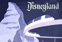 """Disney Posters / """"It wasn't coincidental that the main entrance to Disneyland was created like a theater lobby.  It would only seem natural to have colorful posters in the lobby to entice, excite, and educate guests with a preview of the adventures and experiences into the Park.  It was all part of the show.""""  ~ Poster Art of the Disney Parks"""