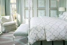 Bedroom Ideas - Calming / This calming bedroom decor idea was created with a palette of blues, greens and grays from the ColorStudio Collection.