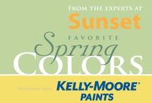 2014 Sunset's Favorite Spring Colors / As the leader in spotting west coast lifestyle trends, the experts at Sunset and Kelly-Moore Paints have chosen these seven colors to consider for your home this spring.