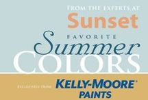 2014 Sunset's Favorite Summer Colors / As the leader in spotting west coast lifestyle trends, the experts at Sunset and Kelly-Moore Paints have chosen these seven colors to consider for your home this summer.