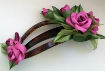 Kangast lilled / fabric flowers / by Laine Roos