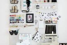 IDEAS - CraftRooms - Organizar materiales / Ideas para organizar tu habitación y tu material para hacer manualidades.
