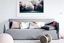 // gray sofa //
