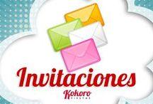 DISEÑO - Invitaciones / by Kokoro Fiestas