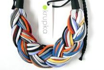 Krupka - upcycling jewellery / Cotton upcycling jewellery
