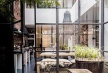 MODERN INDUSTRIAL HOME: The Stylephiles Edit / The biggest interiors trend of today blends retro styling, Brooklyn bad-ass with french industrial edge.  Think exposed bricks contrasted with glass, steel and retro meets rustic charm - Steph & Kaz x