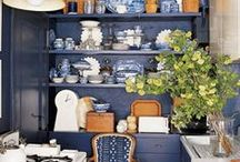 BLUE ROOMS & DECOR: The Stylephiles Edit / The greatest hues are always blues. Soothing, cool and always sophisticated. - Steph & Kaz x