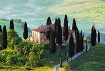 Travel Destinations - Val d'Orcia / Val d'Orcia, a UNESCO World Heritage Site, extends from the hills of south of Siena to Monte Amiata in Tuscany. It is characterised by carefully cultivated hills, picturesque small towns and breathtaking landscapes.  / by Dievole