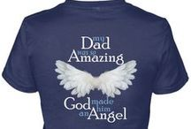 Dad Guardian Angel / >>> calikays.com/collections/dad-guardian-angel <<< -- My Dad is my Guardian Angel T-Shirt, Tee Shirts, Hoodies, Guardian Angel Necklaces, Pendants, Bracelets and Black or White Guardian Angel Coffee Mugs / by CaliKays