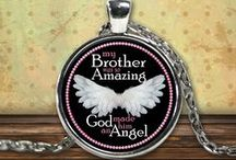 Brother Guardian Angel / Pendants, T-Shirts, Coffee Mugs, Necklaces, Bracelets, Hoodies.  Men's and Women's - All Colors, Sizes and Styles available / by CaliKays
