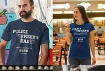 Police Officers / Police Officer Hero Tee Shirts, Hoodies, Police Officer Necklaces, Pendants, Bracelets and Black or White Police Officer Coffee Mugs  / by Designs by Cali Kay