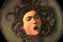 Mitología griega / Imágenes de obras pictóricas y esculturas realizadas sobre dioses y criaturas de la mitología griega
