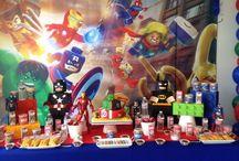 Decoración fiesta Lego superhéroes Party