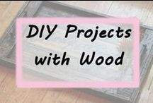 DIY Projects with Wood / Crafts, handmade creations, gift ideas made with wood