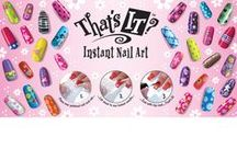 Thats It Instant Nail Art / No  water, No Paint, No Airbrush... Just Rub it on and clear coat and you are done.. Choose from more than different styles to mix & match for very special custom nail art designs.
