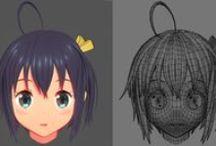 3D, Texture, Concept, Tutorial, Characters